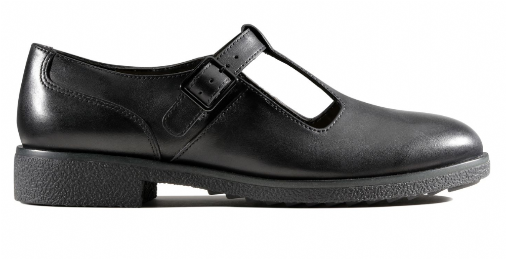 442a7f7ef5c Clarks Griffin Town Black Leather Womens Shoes
